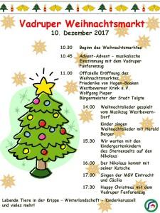 2017-11-19 Weihnachtsmarkt 2017 Plakat m. Programm