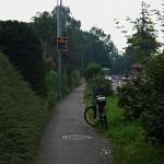 Der alte und der neue Fahrradweg.