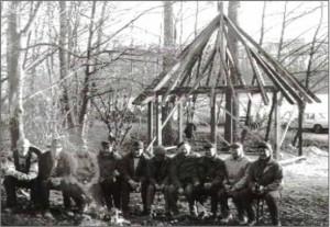 Bau der Krinkhütte - Richtfest