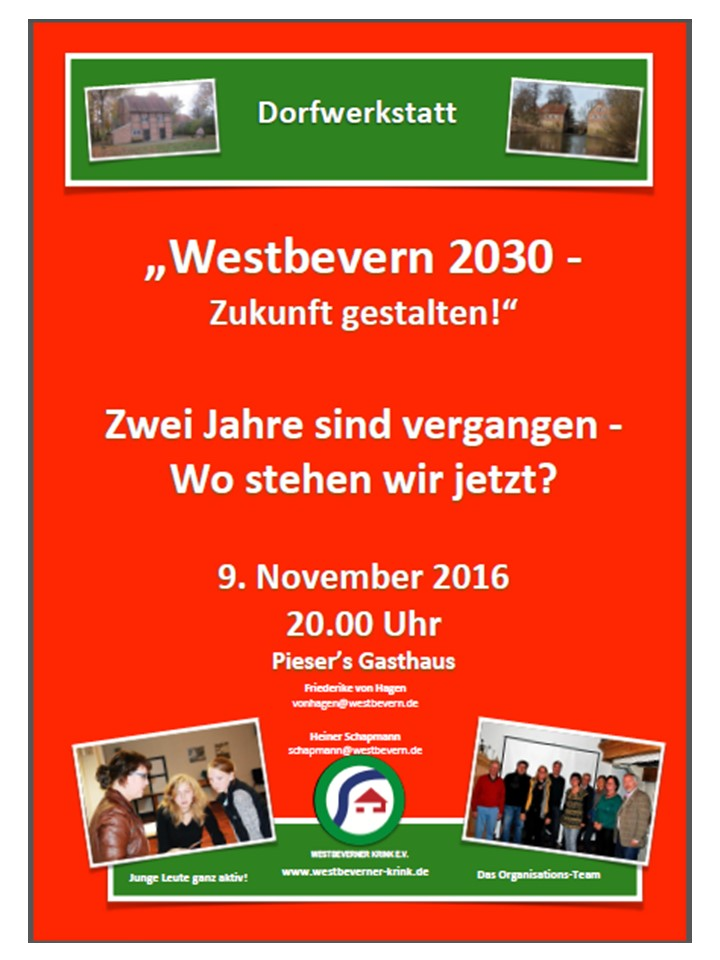 Plakat Dorfwerkstatt 091116