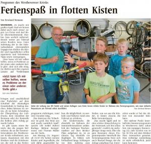 Fahrradwerkstatt mit den Krinkrentnern und Kistenrutsche auf dem Brinker Platz