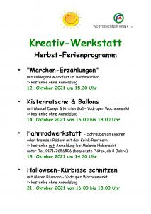 Programm Herbst 2021