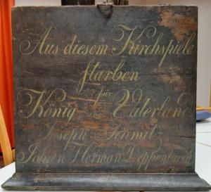 """Gedenktafel zum """"Landwehr-Regiment"""""""