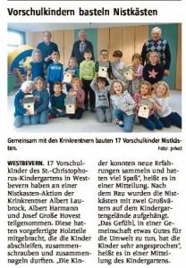 Bericht der Westfälischen Nachrichten vom 11.03.2020